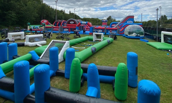 Two Hour Outdoor Bounce Session For Children At Soccer Zone 50 Off