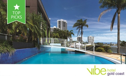 Gold Coast: From $219 for a Surfers Paradise Stay with Buffet Breaky + Late Checkout for 2 people at 4-Star Vibe Hotel
