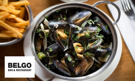 Two- or Three-Course Meal for Two at Belgo, Five Locations (Up to 56% Off) (Merchandising (UK))