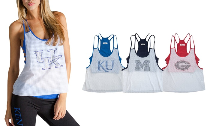 95206362d7 Up To 17% Off on NCAA Women s Mesh Tank Top