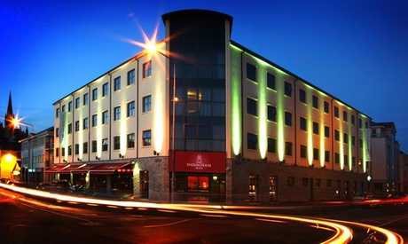 Co. Donegal: 1 or 2 Nights for Two with Breakfast, Tea/Coffee and Muffin at Station House Hotel Letterkenny