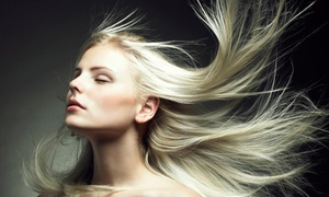 Cutting Edge Salon & Barbers: Keratin Treatment, Blowout, or Highlights with Conditioning at Cutting Edge Salon & Barbers (Up to 64% Off)
