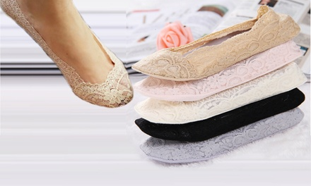 Five (AED 49) or Ten (AED 89) Pairs of Lace Shoe Liners in Choice of Colour