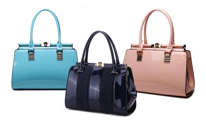 MKF Collection Patent Celebrity-Style Handbag