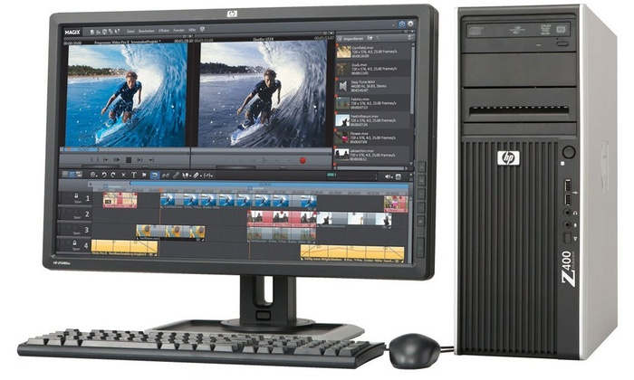 refurbished hp workstation z400 groupon goods. Black Bedroom Furniture Sets. Home Design Ideas