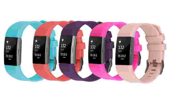 Silicone Replacement Band for Fitbit Charge 2: Silicone Replacement Band for Fitbit Charge 2