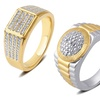 18K Gold Plated Diamond Accent Men's Ring by Brilliant Diamond