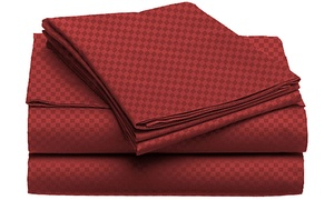 Ultra-Luxe Double-Brushed Microfiber Embossed Sheets (4-Piece)