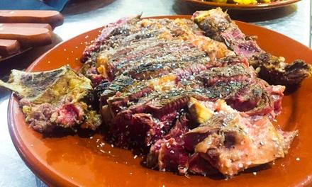 Menú para 2 o 4 con entrante, parrillada de carne, postre o café y bebida desde 29,95 € en Beef & Beer Steak House