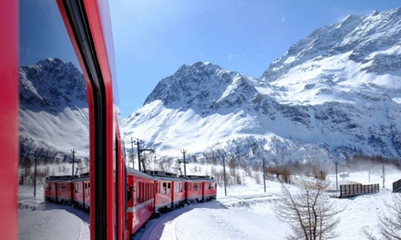 Bus A/R, 1 biglietto per il Trenino Rosso del Bernina e visita alle cascate naturali in Valtellina per adulti e ragazzi