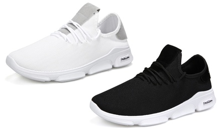 Breathable Lace-Up Trainers