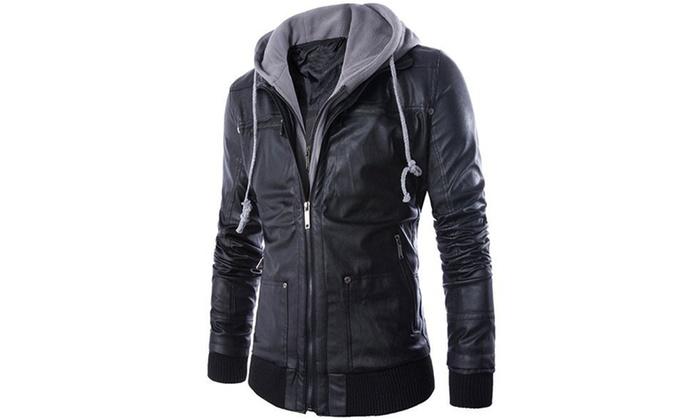 5672888ec3a3 Blouson homme simili cuir Biky   Groupon Shopping