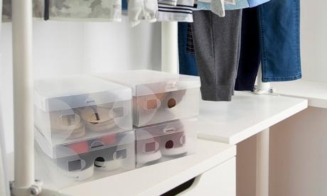 Set de 5, 10, 20 o 30 cajas transparentes para almacenar zapatos