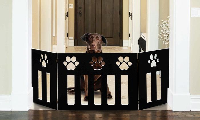 Adjustable Pet Gates With Paw Design