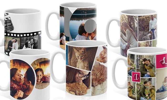 Printerpix: Collage photo sur mug pour café ou thé personnalisé chez Printerpix