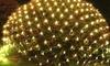 Malla de 80 luces LED solares