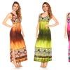 Women's Plus Size Tie-Dye Print Maxi Dress