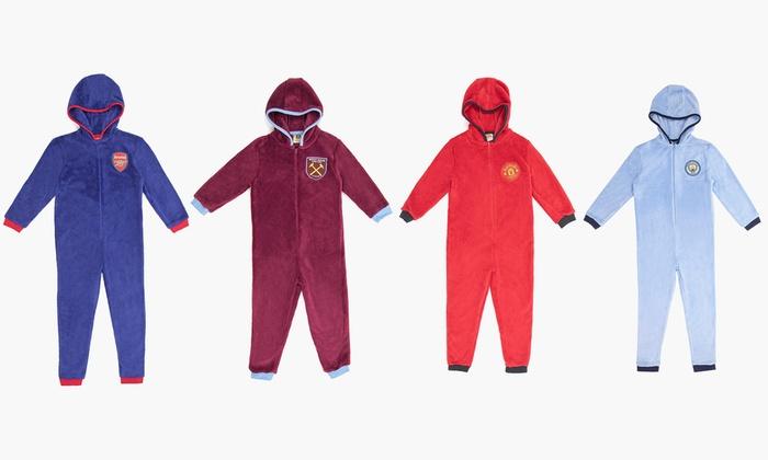 Kinder Fussball Fleece Overall Im Modell Und In Der Grosse Nach Wahl