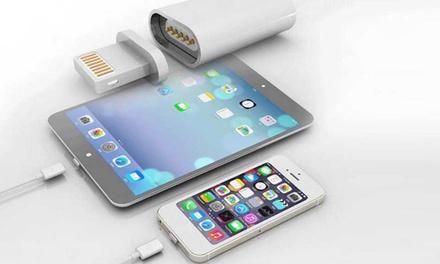 Chargeur magnétique iPhone et tous smartphones/tablettes, anti-casse de connecteur