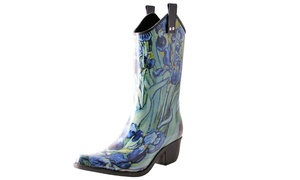 6cf64873e23 Nomad Footwear Women's Artistic Irises Cowboy Rubber Rain Boots