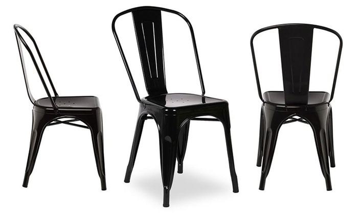 Set da 5 sedie industrial groupon goods for Sedie industrial design