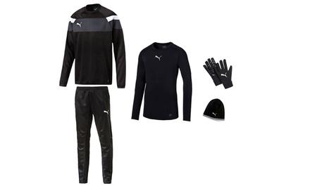 5-teiliges Puma Winter-Trainingsset für Herren in Schwarz-Weiß  (Frankfurt)