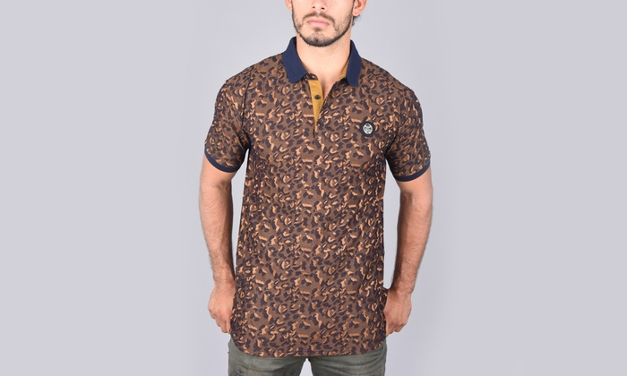 28c343e368 Up To 75% Off on Platini Men's Slim Fit Trim Polo   Groupon Goods