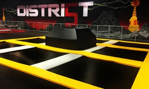 Up to 51% Off Jump Passes or a Party at District5  Extreme Air Sports, plus 6.0% Cash Back from Ebates.