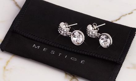 1 ou 2 paires de boucles d'oreilles Molly ornées de cristaux de Swarovski®, livraison offerte