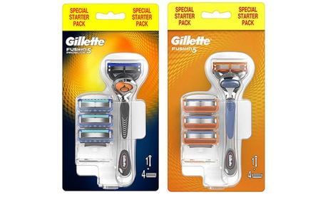 Set Gilette Fusion5 Manual o ProGlide con 4 lame