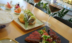 Torii Restaurant and Bar: Japanese Feast with Wine for One ($59), Two ($89) or Four People ($198) at Torii Restaurant and Bar (Up to $587 Value)