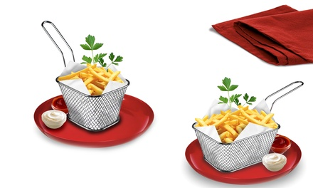 Two Mini Chip Baskets