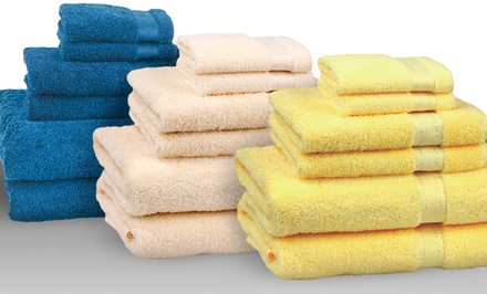 6-Piece Set of 100% Egyptian Cotton Towels. Multiple Colors Available.