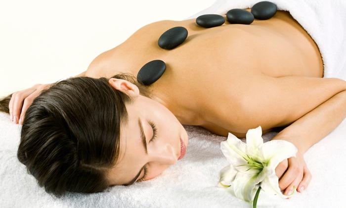 Jo Jo's Massage - Multiple Locations: $59 for a 70-Minute Hot-Stone Massage and a Sugar or Salt Foot Scrub at Jo Jo's Massage ($125 Value)