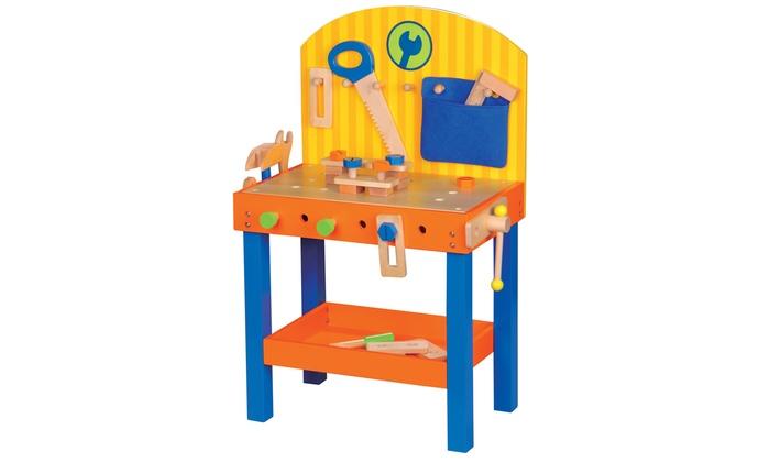 kids 39 wooden tool work bench groupon goods. Black Bedroom Furniture Sets. Home Design Ideas