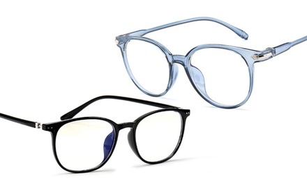 Unisex Blue Light Protection Glasses in a Choice of Colour: One Pair ($14) or Two Pairs ($20)