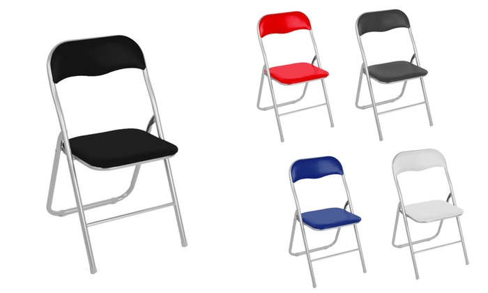 Set 4 sedie pieghevoli Lione | Groupon Goods