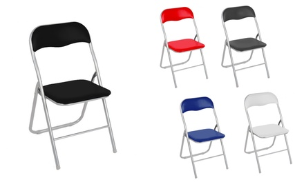 Sedie Pieghevoli Imbottite : Set sedie pieghevoli lione groupon goods