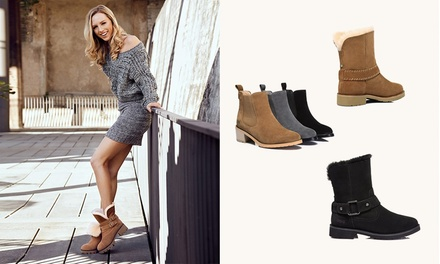 8a268b6e974 Ever Women's Genuine Leather UGG Boots: Sylvia ($79), Melody ($119) or  Sarah ($129) (Don't Pay Up to $400)