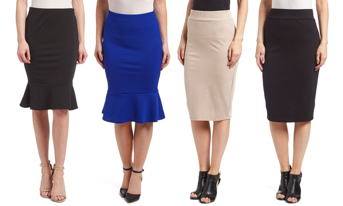 Straight or Trumpet Flare Pencil Skirts