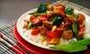 Kublai Khan Crazy Mongolian Stir Fry - Fairbanks - Northwest Crossing: Mongolian Stir-Fry and Sushi for Dinner at Kublai Khan Crazy Mongolian Stir Fry (Up to 53% Off). Two Options Available.