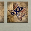 """16""""x16"""" Grungy State Typography Art on Gallery-Wrapped Canvas"""