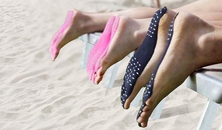 1 o 2 paia di suole da spiaggia per piedi adesive impermeabili e resistenti al calore disponibili in 3 colori