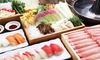 豚ロース&豚バラ等しゃぶしゃぶ食べ放題お寿司5貫付+飲み放題