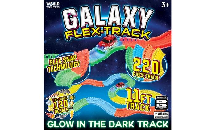 Galaxy Flex Track Glow In The Dark Race Car