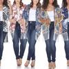Plus Size Fringe Kimono   - 6 prints