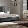 Osim Platform Bed with Padded Headboard