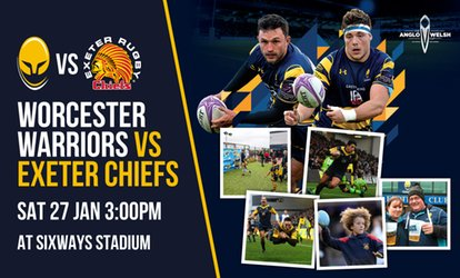 image for Worcester Warriors Rugby Match, Child or Adult Ticket, 27 January, Sixways Stadium (Up to 40% Off)