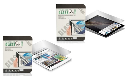 One or Two 9H Tempered Glass Film Screen Protectors for iPads