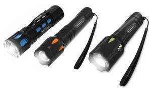 Stalwart Handheld Water Resistant LED Flashlights with 3 Settings